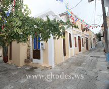 One of the colorful houses of Koskinou on the island of Rhodes - Greece